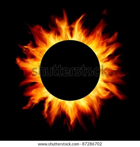 solar flares - stock photo