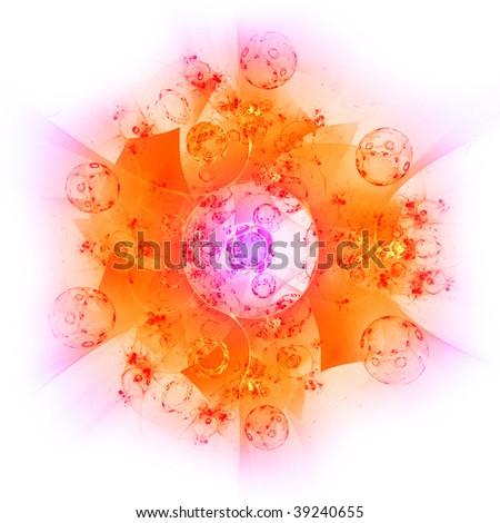 Solar mandala - stock photo