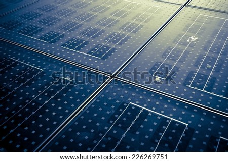 Solar panel abstarct background - stock photo