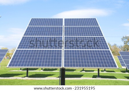 Solar panel: alternative energy - stock photo