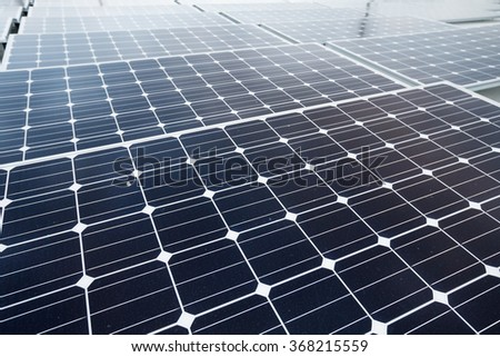 Solar panel close up - stock photo