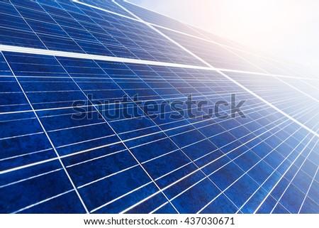 Solar panel close up - stock photo