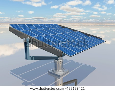 Solar panel Computer generated 3D illustration
