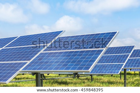 solar panel ecological power in solar farm station