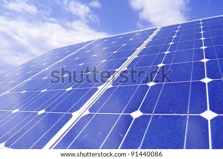 Solar panel. Green energy from sun
