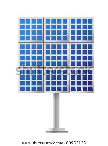 Solar Panel illustration design over a white background - stock photo