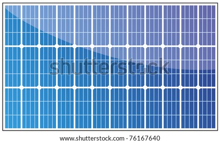 Solar panel illustration on white