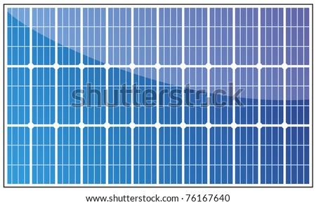 Solar panel illustration on white - stock photo
