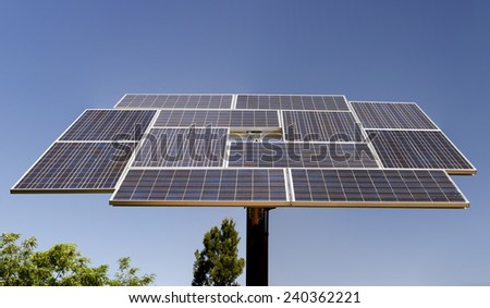 solar panel in Grand Canyon - stock photo