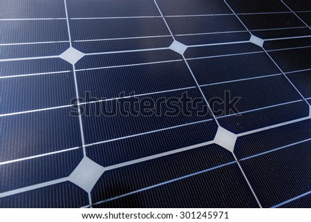Solar Panel in horizontal layout