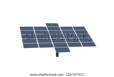 solar panel isolated over a white background / solar panel