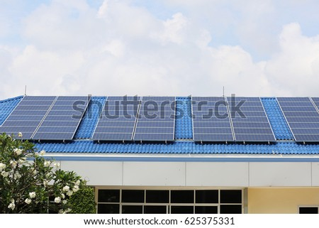Solar panel of building for transform solar light to electric power