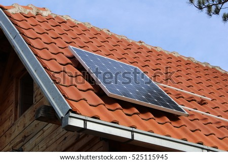 Solar panel on the roof - Stock Image