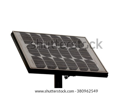 solar panel on the white background.