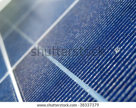 Solar panel - photovoltaic - stock photo