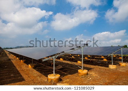 Solar panel. Photovoltaic energy from sun. - stock photo