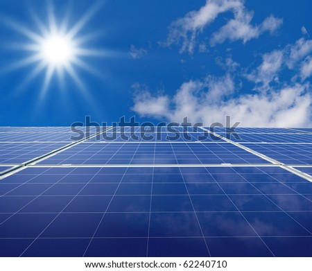 Solar panel. Photovoltaic energy from sun.