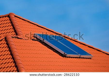 Solar panel power green free energy. - stock photo