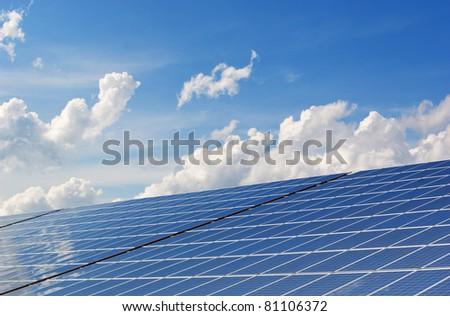 Solar Panel - Renewable Energy - stock photo
