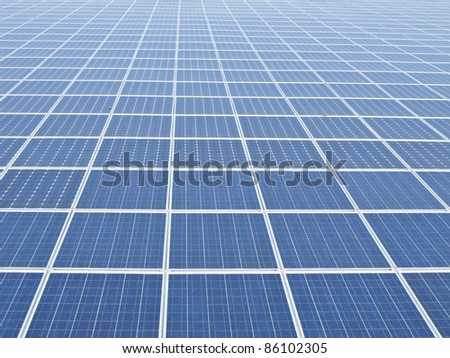 solar panel structure  under the blue sky
