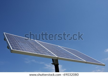 Solar Panel with room for copy