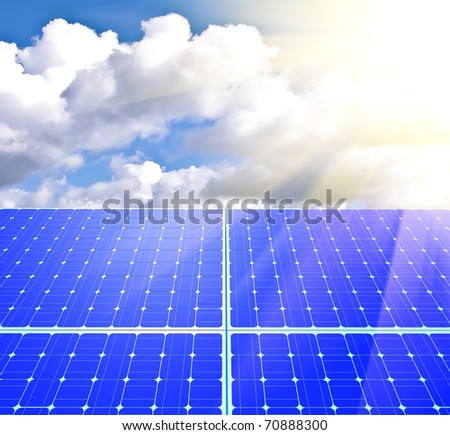 Solar panels. alternative sources of energy