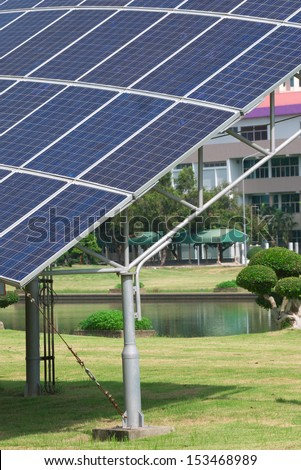 solar panels and renewable energy  - stock photo
