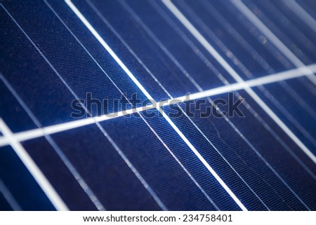 Solar panels close up - stock photo