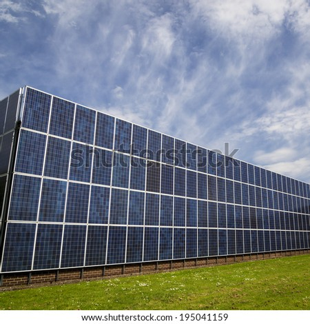 Solar panels cover an entire factory