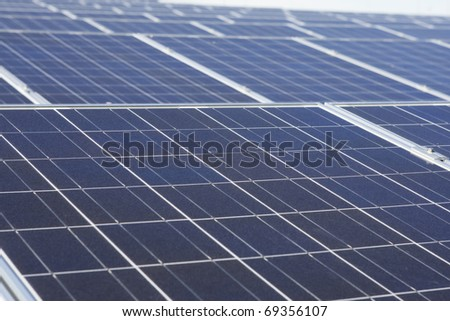 Solar panels, detailed view - stock photo