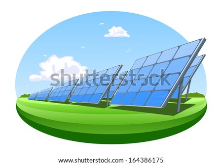 Solar panels. Illustration - stock photo