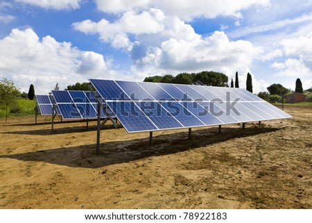 solar panels in countryside