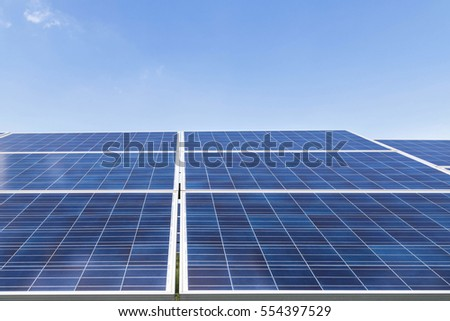solar panels in power station renewable energy from natural