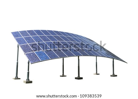Solar Panels Isolated on White Background