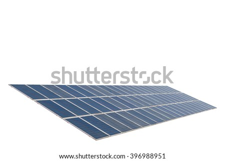 Solar panels isolated on white background.with clipping path - stock photo