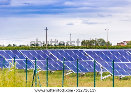 solar panels of photovoltaic power station