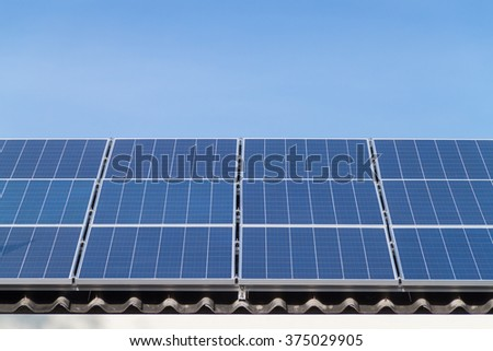 Solar panels on house, installation
