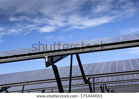 Solar panels on metal structures