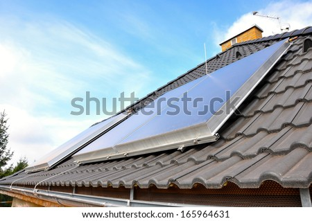 Solar panels on the house, reconstruction, new windows