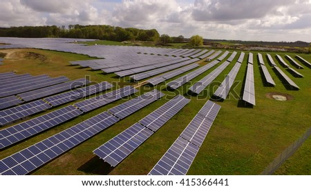 Solar panels Photovoltaic systems  - stock photo