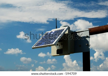 Solar panels provide the electric power to run the monitoring equipment on a pipeline in the texas panhandle.