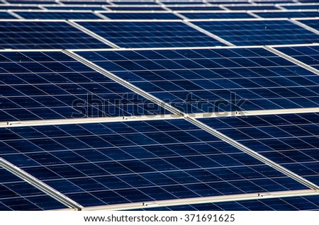 Solar plant in the sunshine
