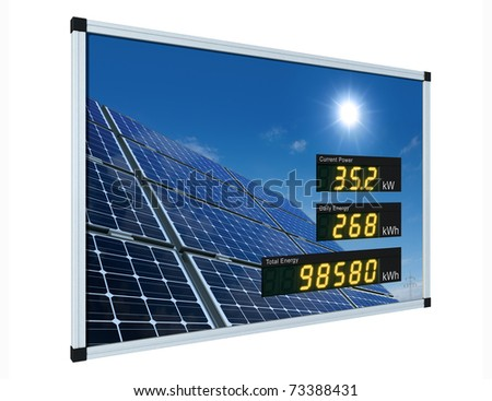 solar power display - english - stock photo