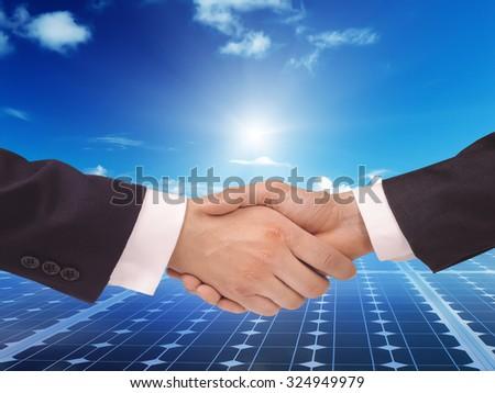 Solar  power energy idea concept background design - stock photo