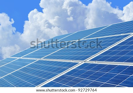 Solar power for electric renewable energy from the sun.