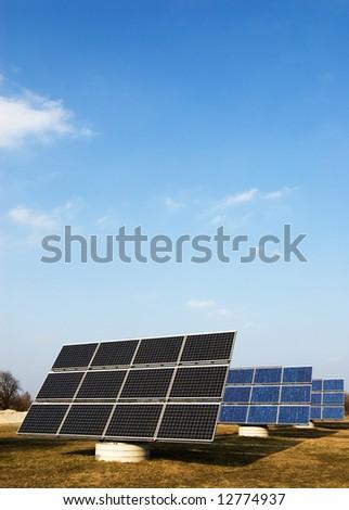 solar power-plant - stock photo