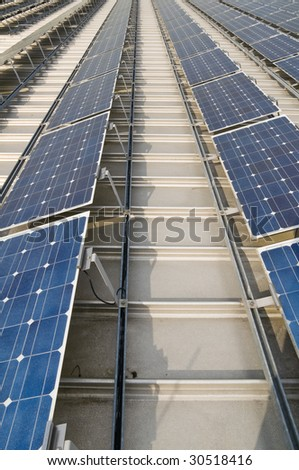 solar power plant - stock photo