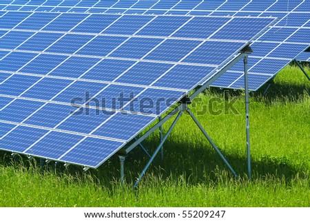 solar power plant - stock photo