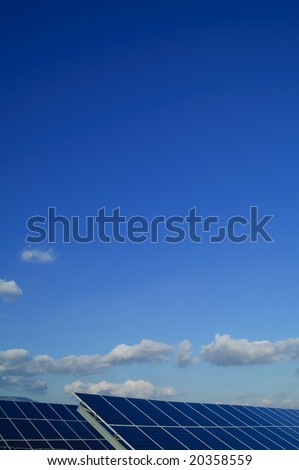 Solar power plants. Solar panels in south of Spain - stock photo