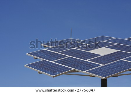 Solar power station. - stock photo